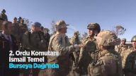 2. Ordu Komutanı İsmail Temel Burseya Dağı'nda