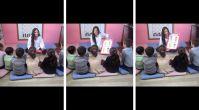Çocuk istismarını önlemek amacıyla çocukları bilgilendiren anasınıfı öğretmeni