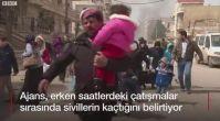 AFP'nin Afrin'den geçtiği görüntüler