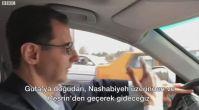 Beşar Esad Guta'ya arabayla gitti