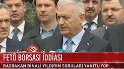 AK Parti'de tartışma yaratan 'FETÖ borsası' iddiasına Başbakan Yıldırım'dan açıklama