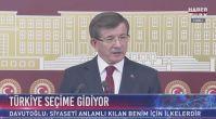 Ahmet Davutoğlu 24 Haziran seçiminde aday olmayacak!