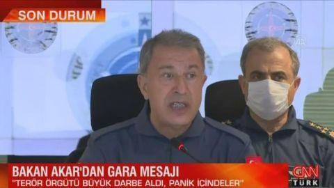 Son dakika... Bakan Akar'dan Gara mesajı: Terör örgütü büyük darbe aldı, panik içindeler ile ilgili görsel sonucu